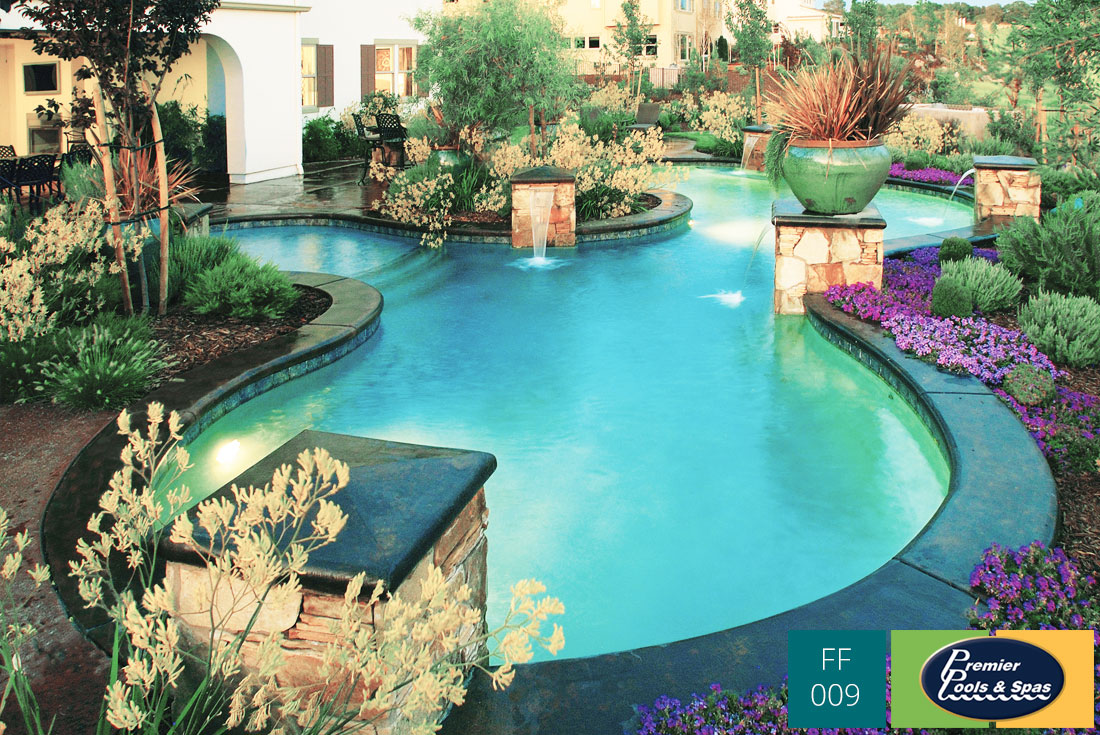 view some examples of freeform swimming pools - Free Form Swimming Pool Designs
