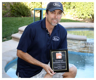 Our Team of Santa Clarita Pool Builders Won The Ultimate Pools Award