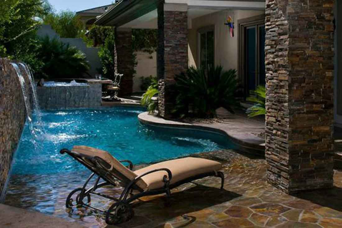 Small backyard pools premier pools spas for Backyard inground pool ideas
