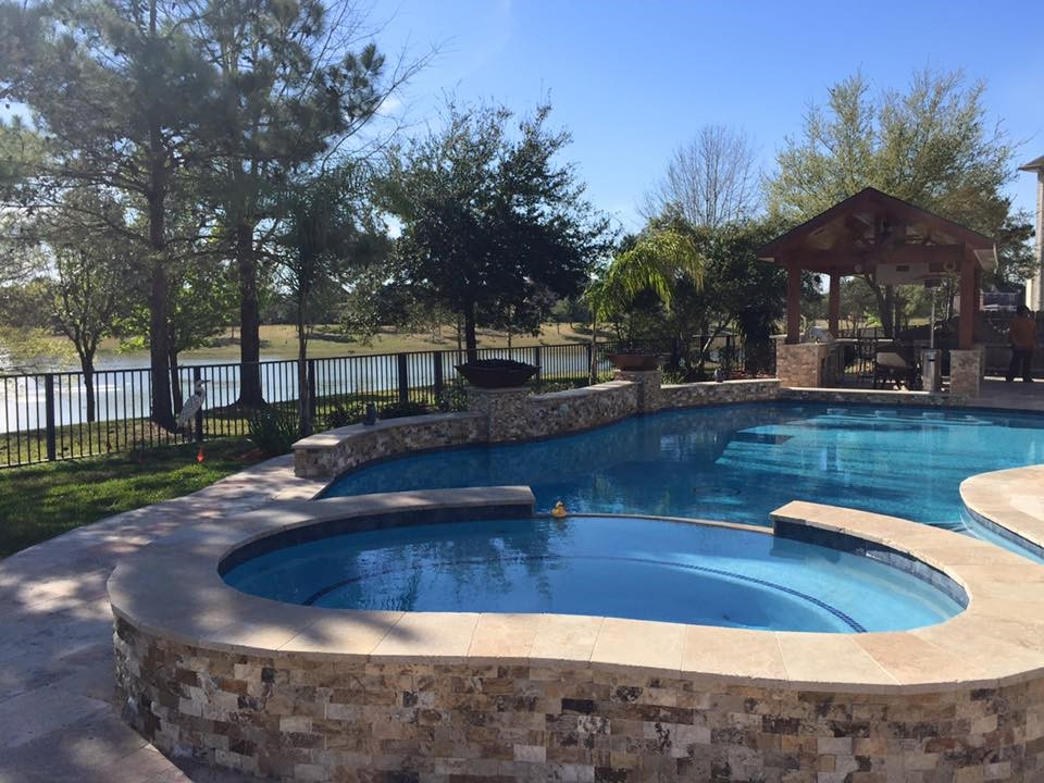 The Hughes Family S Luxurious Swimming Pool In Houston