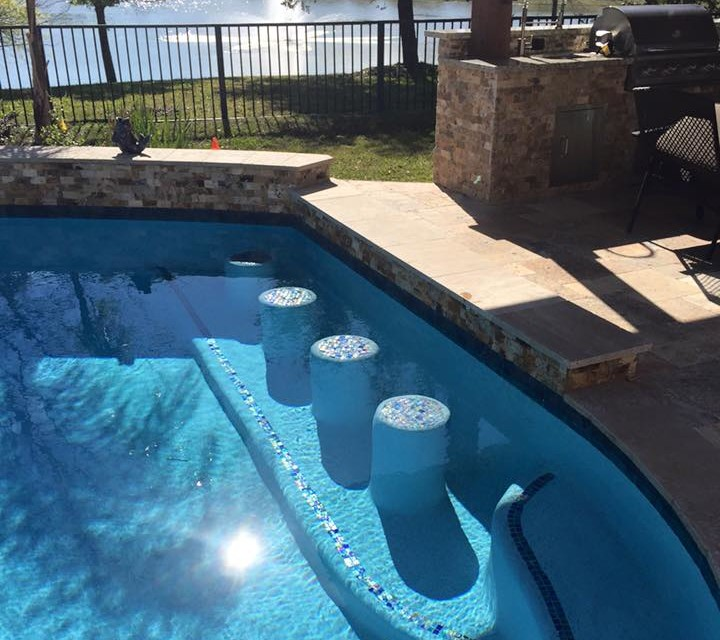 Affordable Pool Grotto With Slide Designs Premier Pools Spas