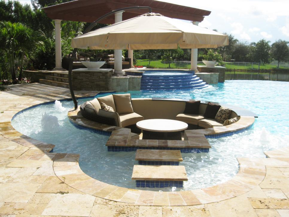 Recessed Seating And Your Pool