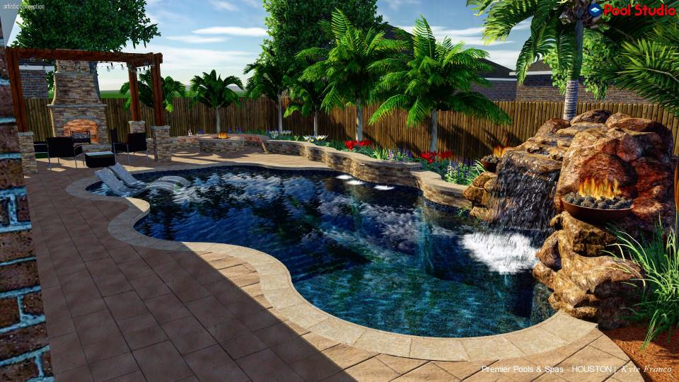 Pre season preparation in palm desert premier pools spas for Pool design 3d software
