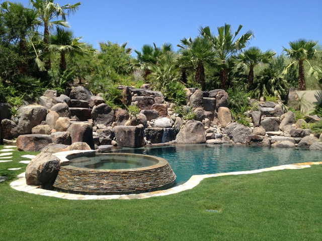 Add these exotic touches to your backyard premier pools for Garden pool zen area