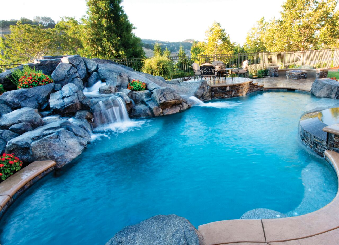add waterfall to pool