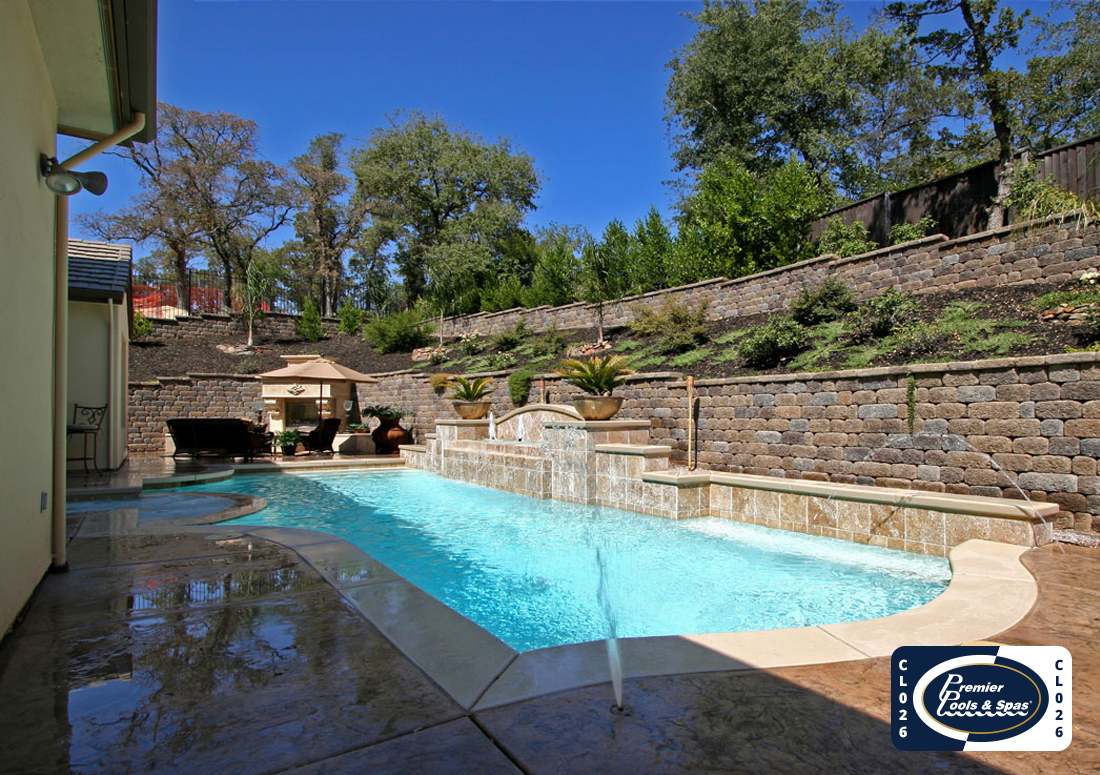 Classic Pools with Fountains