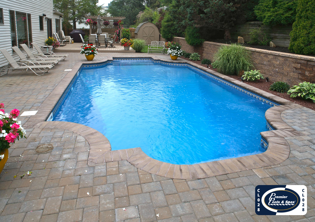 Classic Pool with Pavers